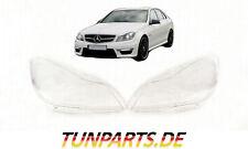 Scheinwerfer Glas für Mercedes C klasse W204 Facelift Streuscheiben Abdeckung