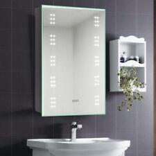 Bathroom LED Mirror Cabinet Wall Mount Storage Shelf Internal Shaver Socket