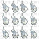 "12PK - 4"" LAUNDRY CART CASTER WHEEL, ROUND POST FOR R&B WIRE C87, RB87G, CSTR87G"