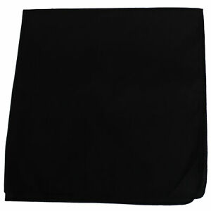 60 Pack Extra Large Cotton Plain Bandanas 27 x 27 Inches - Party and Decoration