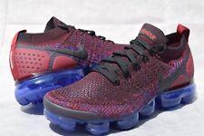 Womens Nike VaporMax Flyknit 2 sz 9.5 942843 006 black red blue running sneakers