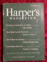 HARPER'S December 1945 JOHN FISCHER FLETCHER PRATT FREDERICK LEWIS ALLEN