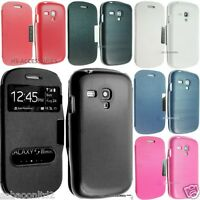 SAMSUNG i8190 GALAXY S3 MINI Leather Case Cover Flip Hard Back Wallet S111 i8200
