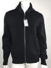NWT Armani Exchange Man Zip Frint Hooded Knit Jacket SZ XL Black$180
