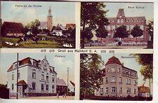 uralte AK Rußdorf Postamt Gemeindeamt Schule b. Limbach-Oberfrohna 1913