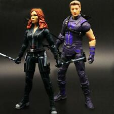 Marvel Legends Civil War Hawkeye Black widow lovers Action Figure 2pcs/set