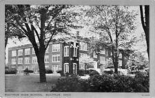 BUCYRUS, OH  Ohio      BUCYRUS HIGH SCHOOL-Silver Framed   Postcard