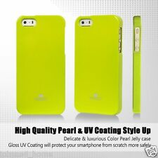 iPhone 5 5s and SE Genuine Mercury Goospery Green Jelly Case Cover