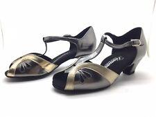 Chaussure de danse de salon pour femme:diamant couleur: or et argent taille: 35