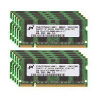 Lot 2GB Micron 2G PC2-6400 6400 DDR2 800Mhz CL6 200PIN Laptop SO-DIMM RAM Memory