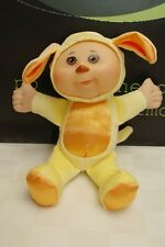"""Cabbage Patch Kids Snugglies Yellow Puppy Dog 8"""" Doll"""