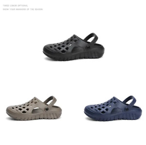 Men Flat Soft Non-Slip Light Hole Shoes Summer EVA Sandals Casual Beach Slippers