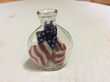 New listing Clear Glass Bottle With An American Flag Inside