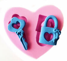 Key and Lock 2 Cavity Silicone Mold for Fondant, Gum Paste, Chocolate, Crafts