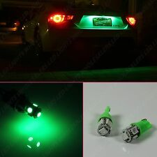 T10 192 194 W5W Car GREEN 5 SMD LED Interior License Plate Dome Map Light Bulbs