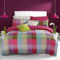 Harley Multi Xmas Color Check Duvet Cover Quilt Bedding Set PillowCases All Size