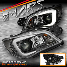 LED 3D Stripe DRL Projector Head Lights for Subaru Impreza GD 05-07 - Xenon type