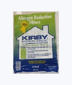 Genuine Kirby Bags Allergen Reduction Filters Vacuum Cleaner Bags 6/Pack 204811