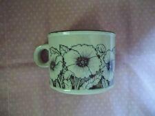 Vintage HORNSEA Cornrose Coffee Cup Mug Flat Ivory Rich Brown Exc. Cond.
