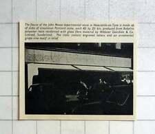 1957 Fascia Of John Moses Departmental Store Newcastle