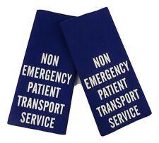 NHS Patient Transfer Service Ambulance Epaulette Slides Sliders H7
