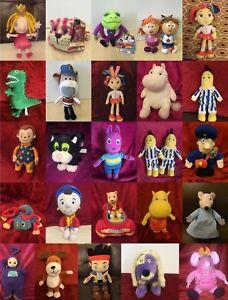 Childrens TV Cartoon Soft Toy Plush Character UK BBC Various