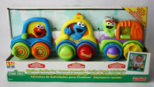 SESAME STREET FUNTIME STROLLER TOY TRAIN ELMO COOKIE FISHER PRICE 2000 NEW !