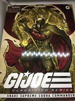🔥🐍🔥🐍🔥🐍🔥🐍🔥Snake Supreme Cobra Commander PulseCon Excl GI Joe Classified
