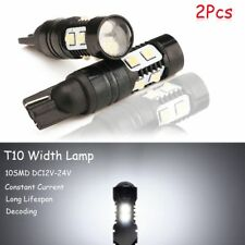 2Pcs White 50W 912 921 T10 LED 6000K HID Backup Reverse Lights Bulb HQ