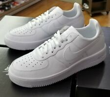 NIKE AIR FORCE 1 ULTRAFORCE LEATHER TRIPLE WHITE  845052 101 MEN US SZ 11