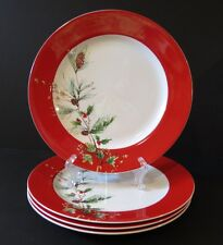 Lenox WINTER SONG Dinner Plates NWT Lot of 4