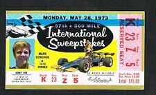 1973 Indianapolis 500 racing ticket Gordon Johncock Mark Donohue
