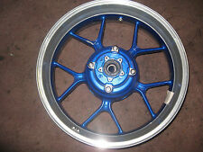 TRIUMPH TIGER 1050 2007 ALIMINIUM REAR WHEEL IN SILVER AND BLUE