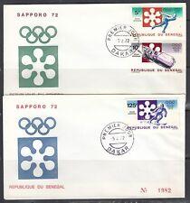 Senegal Scott C107-9 FDC - 1972 Olympic Winter Games