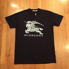 Burberry Navy & White T-Shirt - Sz Medium