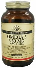 Omega3 EPA and DHA Solgar Triple Strength 950 MG 100 Softgels Health Supplements