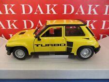 Die cast 1/24 Modellino Auto Renault 5 Turbo 2 gialla by Burago