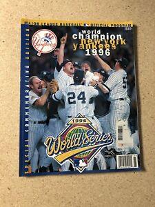 Major League Baseball Program - World Champion New York Yankees 1996 - SE