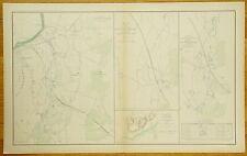 AUTHENTIC CIVIL WAR MAP ~ RICHMOND VA. & PENINSULAR CAMPAIGNS-1862-1865