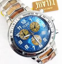 Alviero Martini 1° Classe Orologio Uomo Cronografo In Acciaio Top Gamma PCH764