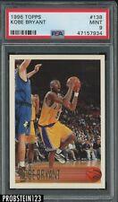 1996 Topps #138 Kobe Bryant Lakers RC Rookie HOF PSA 9 MINT