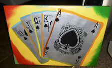 Famous Pop Art ROYAL FLUSH by Steve Kaufman SAK