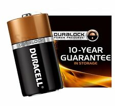 1 Size D LR20 MN1300 Duralock Duracell Bulk 1.5V Alkaline Battery Exp Dec 2025