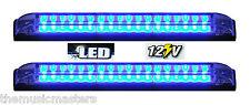 "2X BLUE 8"" Car Boat RV 18 LED LIGHT STRIP Waterproof 12V Marine Accent Lighting"