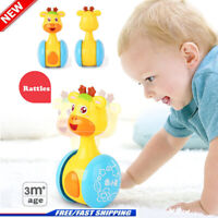 Baby Rattles Giraffe Tumbler Doll Toy Bell Music Learning Education Toys