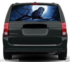 Owl in Blue Moon Car or Caravan Rear Window Vehicle Graphic Sticker/Decal
