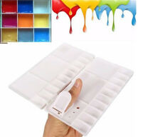 1Pc 25 Grids Foldable Art Paint Tray Oil Watercolor Plastic Palette White S8