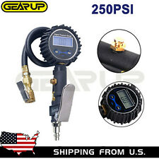 Digital Tire 250 Psi Inflator with Pressure Gauge Air Chuck for Truck/Car/Bike