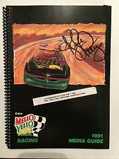 KYLE PETTY AUTOGRAPHED 1991 MELLOW YELLOW MEDIA GUIDE NASCAR
