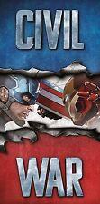 Captain america iron man guerre civile grande plage bain piscine serviette garçons 75x150cm